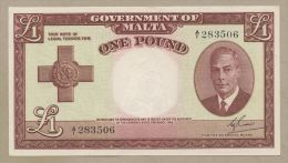 MALTA - £1  1951  KGVI  P22  Uncirculated  ( Banknotes ) - Malte