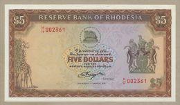 RHODESIA - $5  1978  P32b  Uncirculated  ( Banknotes ) - Banknotes