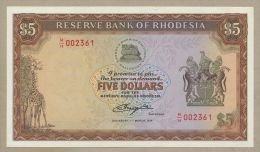 RHODESIA - $5  1978  P32b  Uncirculated  ( Banknotes ) - Billets