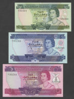 SOLOMON ISLANDS - $2, $5, $10 -NUMBER SET- QEII  P5-7  Uncirculated  ( Banknotes ) - Salomons