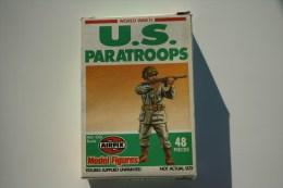 Airfix WW2 U.S. Paratroops, Scale HO/OO, Vintage - Figurines