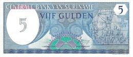 5 VIJF GULDEN   - Perfect Condition - Surinam