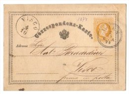 Austria Österreich 1874 Postal History Rare, Postcard, Correspondenz Karte D.066 - Briefe U. Dokumente