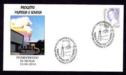 ITALY ITALIA 2014. SPECIAL POSTMARK. VULCANO ETNA SICILIA. FIUMEFREDDO DI SICILIA - Volcans