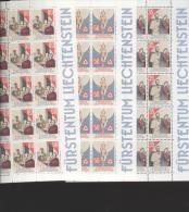 Liechtenstein **  954-956 Weihnachten     Kleinbogen Ungefaltet Katalog 44,00 - Unused Stamps