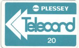 Denmark - Plessey Telecard Arrow Card 20 Units, Used - Dinamarca