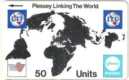 Switzerland - Plessey Linking The World 50 U ITU '87 - Suiza