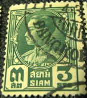 Thailand 1928 King Prajadhipok 3s - Used - Siam