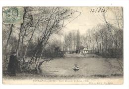 Cp, 78, Bonnières-sur-Seie, Petit Bras De La Seine Et L'Ile, Voyagée 1906 - Bonnieres Sur Seine