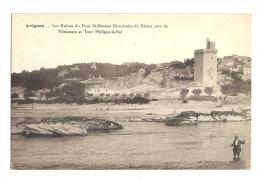 Cp, 84, Avignon,  Les Ruines Du Pont St-Bénezet Rive Droite Du Rhône - Avignon (Palais & Pont)
