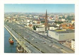 Cp, Allemagne, Bremerhaven, Gesamtansicht Mit Seute Deern Und Elbe, Voyagée - Bremerhaven