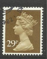 GB 1982 QE2 29p Ochre Brown Machin SG X978...( L212 ) - 1952-.... (Elisabeth II.)