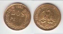**** MEXIQUE - MEXICO - 2 PESOS 1920 - DOS PESOS 1920 - GOLD - OR **** EN ACHAT IMMEDIAT !!! - Mexico