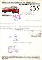 BAS RHIN - SAINT JEAN SAVERNE - SOCIETE D'EXPLOITATION DE TRANSPORTS - CAMION FIAT - WETZEL & CIE - LETTRE - 1973 - Trasporti