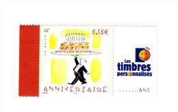 Timbre Personnalisé Anniversaire De 2004 Avec Logo TPP YT 3688A En GOMME BRILLANTE . Voir Le Scan . Maury N° 24a : 6 € . - Francia