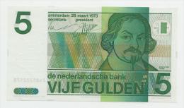 Netherlands 5 Gulden 1973 UNC NEUF Pre-Euro Banknote P 95 - [2] 1815-… : Royaume Des Pays-Bas
