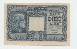 Italy 10 Lire 1944 AVF P 32a 32 A - [ 1] …-1946 : Kingdom