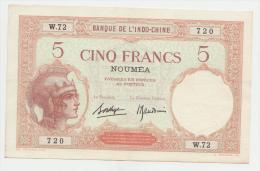 New Caledonia Noumea 5 Francs 1926 XF++ AUNC P 36b 36 B - Nouméa (Nuova Caledonia 1873-1985)