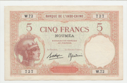 New Caledonia Noumea 5 Francs 1926 VF++  P 36b 36 B - Nouméa (New Caledonia 1873-1985)