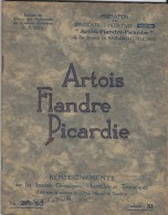 Stations Climatiques , Thermales Et Touristiques/ESSI/ Artois,Flandre,Picardie/T Ourcoing-Fourmies-Valenci Enne/1935 PGC - Picardie - Nord-Pas-de-Calais