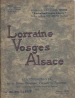 Stations Climatiques , Thermales Et Touristiques/ESSI/ Lorraine-Vosges-Alsace/Vittel-Obernai-Nancy-Metz/1935 PGC58 - Lorraine - Vosges