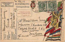 FRANCHIGIA POSTA MILITARE 90 1918 EDOLO X OSPEDALE MOBILE CRI CITTA DI MILANO - 1900-44 Vittorio Emanuele III