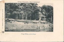 CONGO FRANCAIS HAUT OUBANGUI VILLAGE M'BAKAS PRES DE BANGUI - Congo Français - Autres