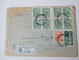 Jugoslawien 1958 Registered Letter To Stuttgart. Schöne Frankatur. R Beograd 4 No 7694 - Cartas