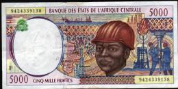 ETATS DE L'AFRIQUE CENTRALE - 10 000 FRANCS - STRAP PARTIELLEMENT ABSENT - A VOIR - Centraal-Afrikaanse Republiek