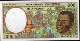 ETATS DE L´AFRIQUE CENTRALE - REPUBLIQUE CENTRAFRICAINE(Central African States)1000 Francs - República Centroafricana