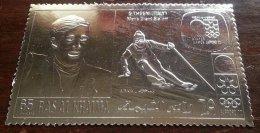 Ras Al Khaima 1972 Sport, Olympic Winter Winners, SILVER FOIL, MNH S.550 - Ras Al-Khaima