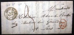 Cachet Type 15 + Boite Rurale  --  LIGNY LE CHATEL  --  YONNE  --  LAC  --  1841  --  Indice 3+ - 1801-1848: Précurseurs XIX