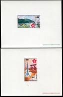 POLYNÉSIE - POSTE AÉRIENNE N° 32 & 33 ( EXPOSITION UNIVERSELLE D'OSAKA ) 2 EPREUVES DE LUXE - SUP - Non Dentelés, épreuves & Variétés