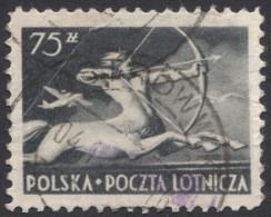 Poland, 75 Z. 1948, Sc # C25, Mi # 483, Used - Airmail