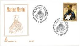 ITALIA REPUBBLICA - FDC CAPITOLIUM ANNO 2014 - MARTINO MARTINI 1 FDC - ANNULLO TRENTO - 6. 1946-.. Repubblica