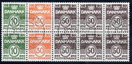 DENMARK 1984 Numeral Type. Booklet Pane Used  Michel H-Blatt 23 - Booklets