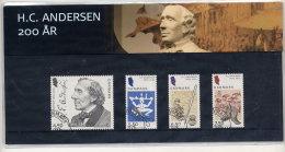 DENMARK 2005 H-C Andersen Presentation Pack With Cancelled Stamps. Michel 1396-99 - Denmark
