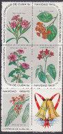 PGL CD626 - CUBA Yv N°1356/60 ** FLEURS NOEL - Cuba