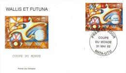 WALLIS ET FUTUNA. N°569 De 2002 Sur Enveloppe 1er Jour (FDC). Coupe Du Monde De Foot. 2002. - Copa Mundial