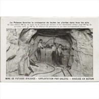 TBJTP1854-LFTD113TPROMI.T Ajeta Postal De.trabajo.frances.LA VIDA DE UN MINERO 3.Haciendo GALERIAS - Mineral