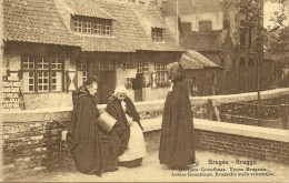 Old Picturecard Brugges Derriere Gruuthuse - Types Brugeois, Achter Gruuthuse - Brugsche Oude Vrouwtjes - Brugge