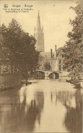 Old Picturecard Pont Du Beguinage Et Presbytere, Begijnhofbrug En Pastorij - Brugge