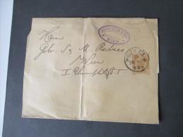 Österreich Streifband 1896 (?) Breites Format. Adolf Beck & Co Wien - Entiers Postaux