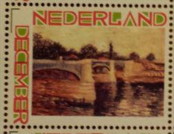 Persoonlijke December Postzegel D12c Mobiele OKI Printer Postaumaat 2013 Vincent Van Gogh Seine With Pont De Jatte - Niederlande