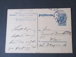 Österreich 1921 Ganzsache P 243 Gelaufen Innerhalb Von Wien. Medicinalrat Dr. Alex Elssenwenger - Entiers Postaux