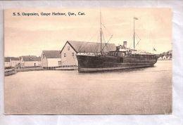 CPA - Canada - S.S. Gaspesien, Gaspe Harbour, Quebec - Gaspé