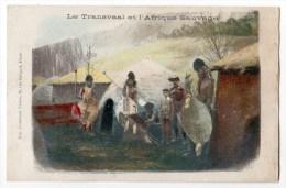 Carte Postales Utilisé Comme Chromo Pour Grands Magasins Universels, Lyon, Transvaal, Afrique Sauvage - Chromos
