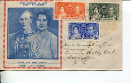 (111) British Honduras Registered Cover Posted To British Guiana - 1937 Coronation Stamps - - Familles Royales
