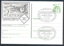 Deutschland Germany Airships Zeppelin 1981 Postal Stationery Card; Oldtimer Flugschau Bremen Graf Zeppelin - Airships