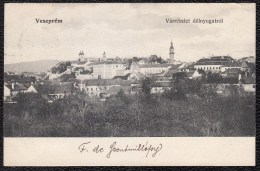 "OLD CPA - VESZPREM - "" VARRESZLET DELNYUGATROL "" - BAKONY - BALATON LAKE - 1910 - Please Read Explanation - Hongrie"